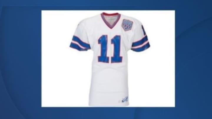Scott Norwood Game-Worn Super Bowl XXV Bills Jersey Going for ...
