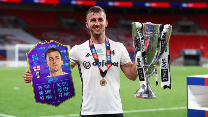 Joe Bryan earned a MOTM card for his performance in the EFL playoff final match.