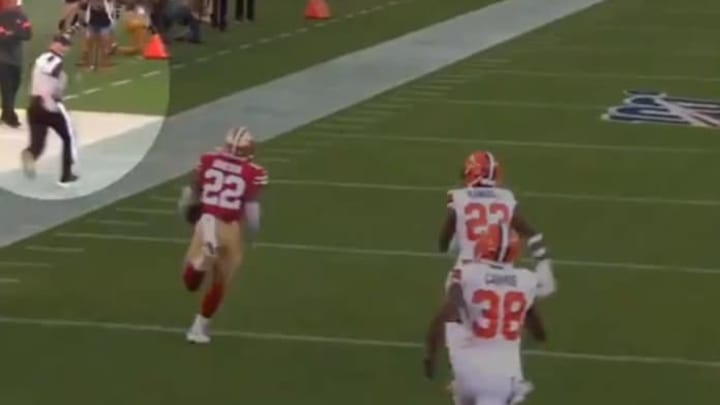 Remembering when a ref showed off insane speed, out-running Matt Breida.