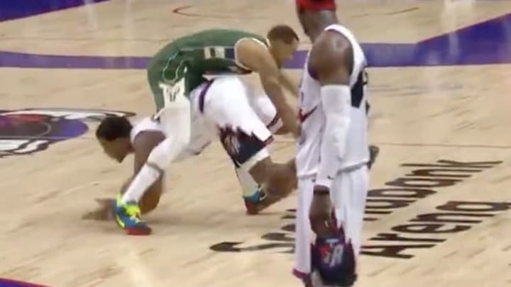 "Raptors star Kyle Lowry made the strange decision to try a ""human nutmeg"" against George Hill"