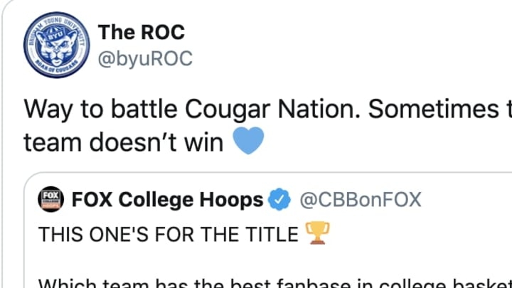 BYU fans really wanted to win a fake contest.