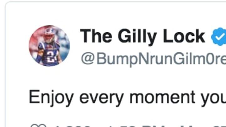 New England Patriots CB Stephon Gilmore vague tweet