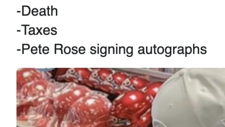 Cincinnati Reds legend Pete Rose was spotted signing autographs in Las Vegas during quarantine.