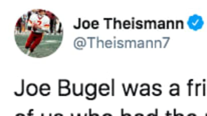 Former Washington Redskins QB joe Theismann paid tribute to the late Joe Bugel.