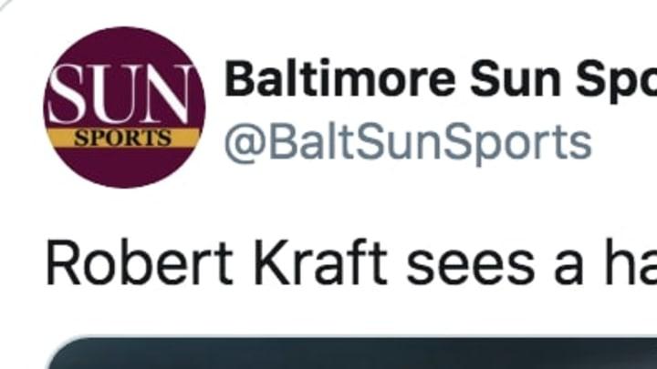 Baltimore Sun trolls New England Patriots owner Robert Kraft