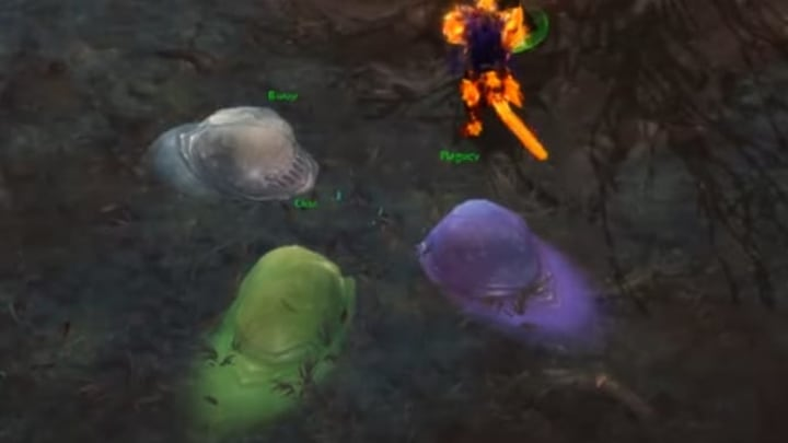 Three Oozes located right next to where you being the quest