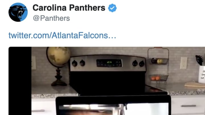 The Panthers didn't like the New Atlanta Falcons uniforms.