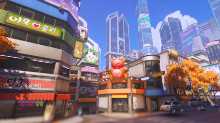 D.VA, Sombra, and Winston Sing Karaoke at Busan Map
