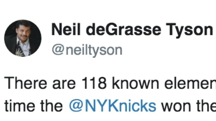 Neil deGrasse Tyson trolled the New York Knicks with a legendary Tweet.