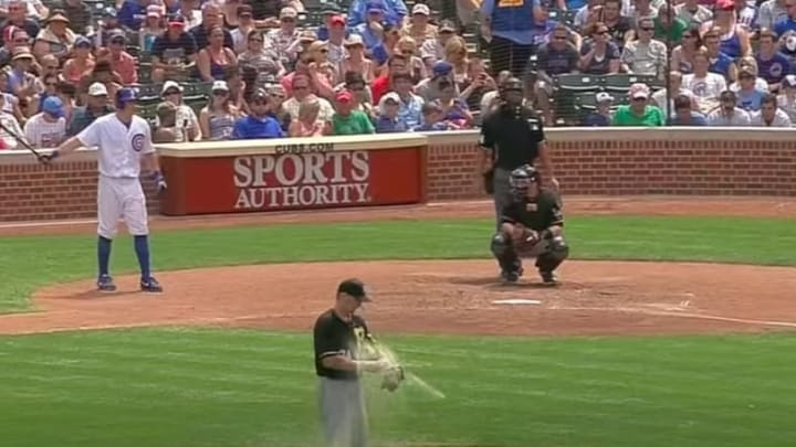 A.J. Burnett somehow had two exploding rosin bags in one season.