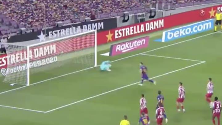 Lionel Messi anotó su gol 700 en el partido ante el Atlético de Madrid