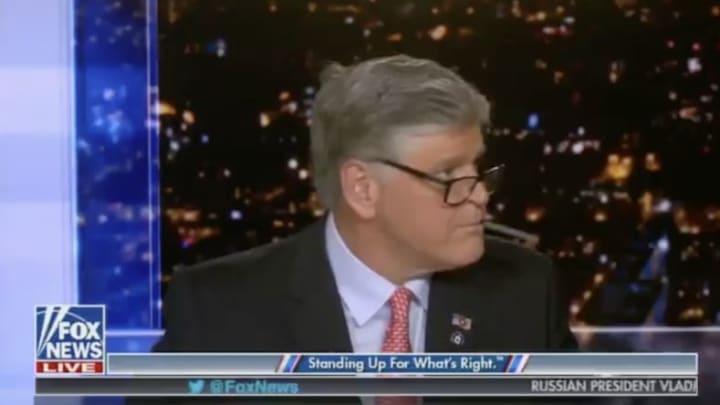Sean Hannity got caught vaping on Fox News.