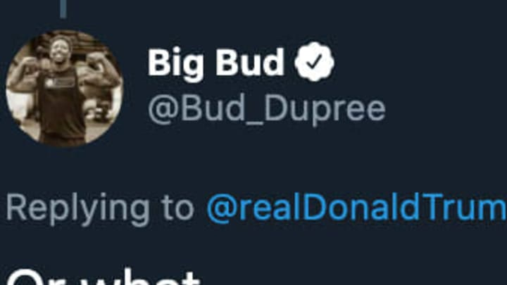 Pittsburgh Steelers DE Bud Dupree responded to President Donald Trump's tweet about players kneeling during the National Anthem.