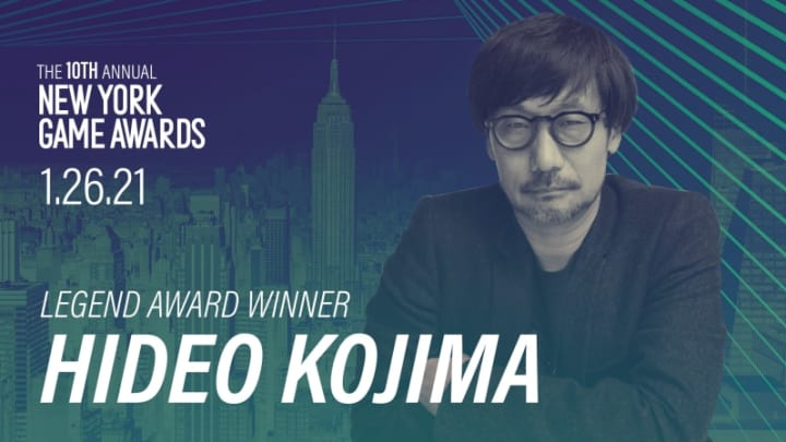Hideo Kojima will receive an award commemorating his career achievements Wednesday.
