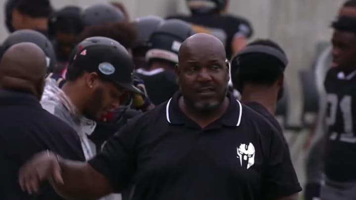Bishop Sycamore head football coach Roy Johnson