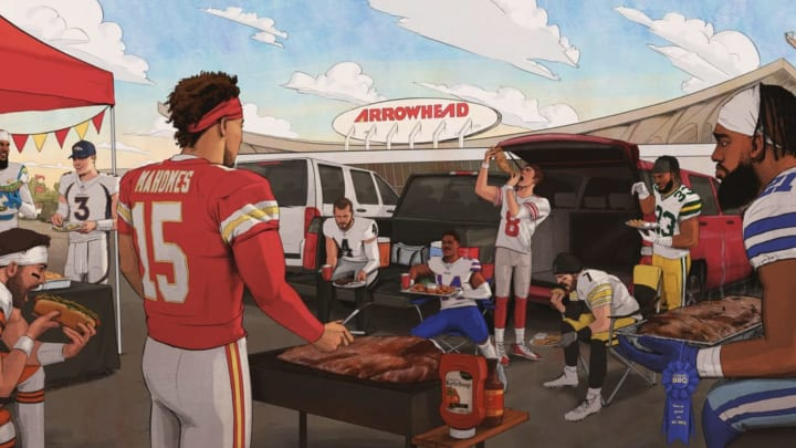 Here Are All the Incredible Things NFL Stars Are Doing in Chiefs' Tailgate Picture