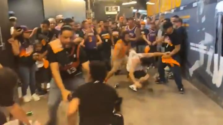 Phoenix Suns and Los Angeles Clippers fans brawl after Game 1 of the Western Conference Finals