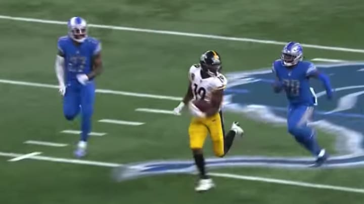 Juju Smith-Schuster scored the longest touchdown in Steelers history against the Detroit Lions.