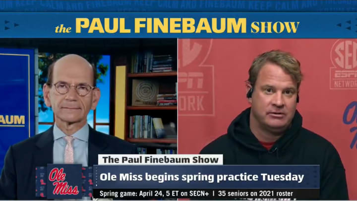 "Paul Finebaum interviews Lane Kiffin on ""The Paul Finebaum Show"""