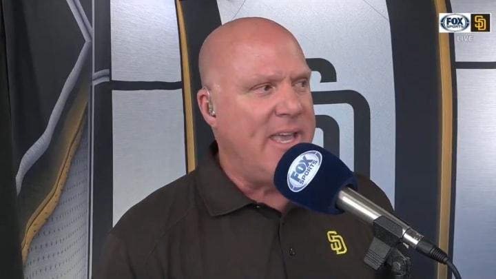 San Diego padres broadcaster Mark Grant