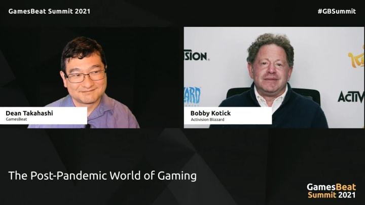 GamesBeat Summit 2021 interview with Bobby Kotick