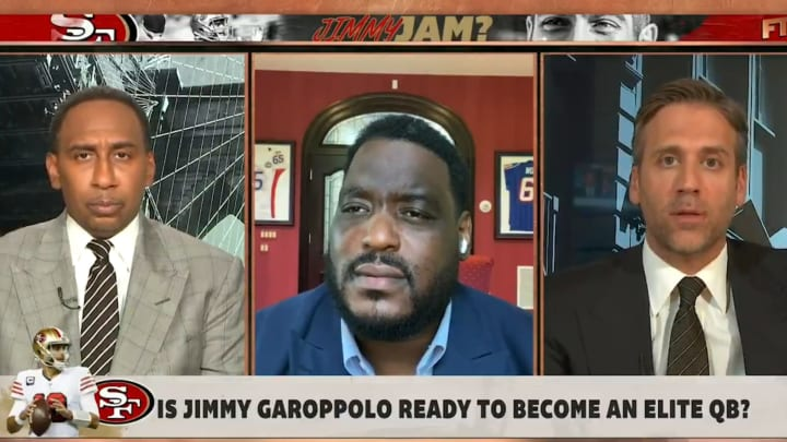 """Stephen A. Smith, Damien Woody and Max Kellerman on """"First Take"""""""