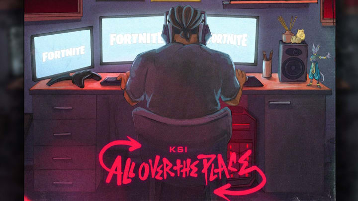 """KSI has collaborated with Fortnite to release one of the songs from his new """"All Over the Place"""" album in-game."""