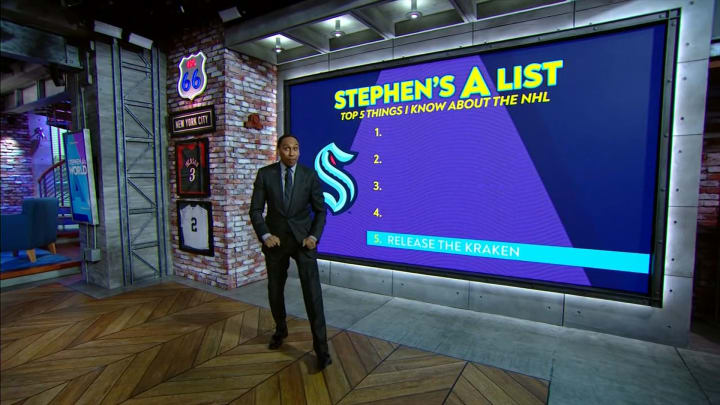 """Stephen A. Smith discussing the NHL on """"Stephen A's World"""""""