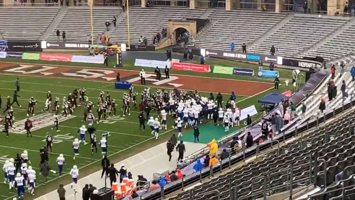 Mississippi State and Tulsa Brawl at the end of the Lockheed Martin Armed Forces Bowl