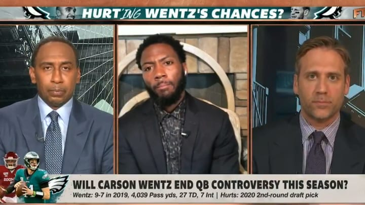 """Stephen A Smith, Ryan Clark and Max Kellerman on """"First Take"""""""