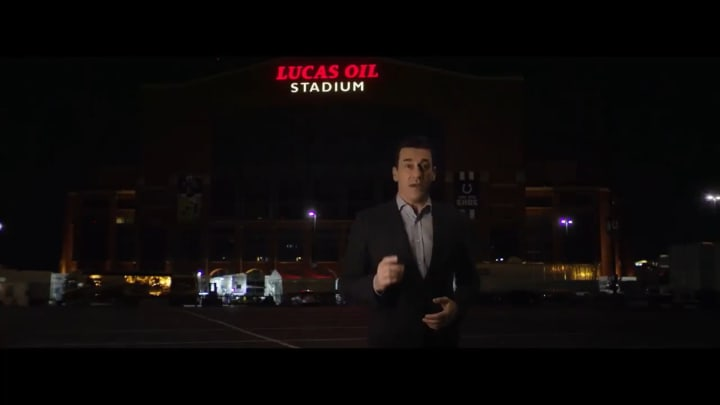 Jon Hamm narrating the intro video for the 2021 college basketball national championship game