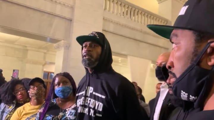 Stephen Jackson addresses the media concerning the killing of George Floyd