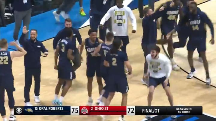 Oral Roberts upsets Ohio State in the NCAA Tournament