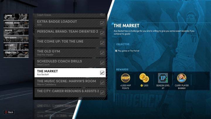 The Market quest