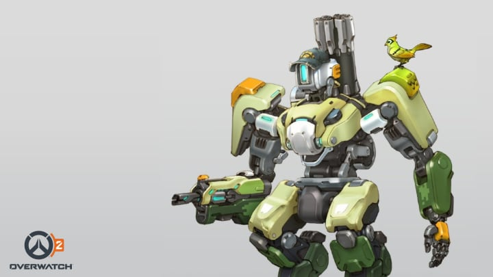 Here is Bastion's shiny new look for Overwatch 2.