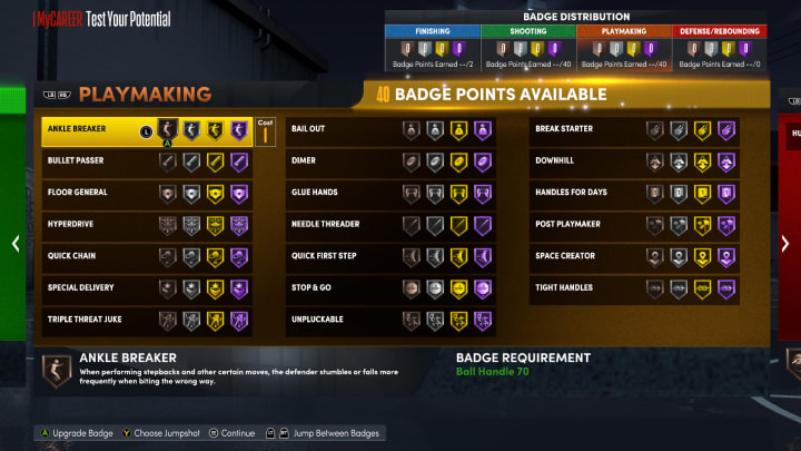 Here are the best Playmaking Badges to use in NBA 2K22 MyCareer on Current Gen and Next Gen.