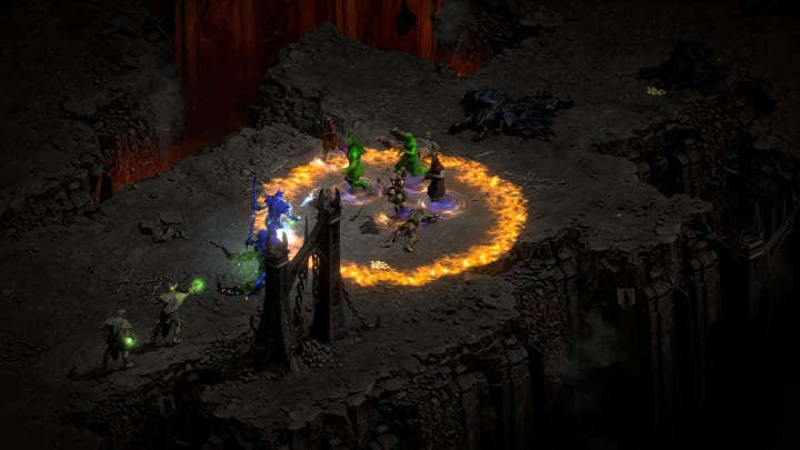 Rotating items in the Diablo II: Resurrected inventory would make optimizing the space much easier.