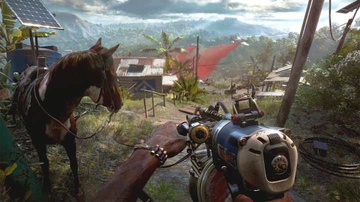 Far Cry 6 includes horseback riding and improvised weaponry.