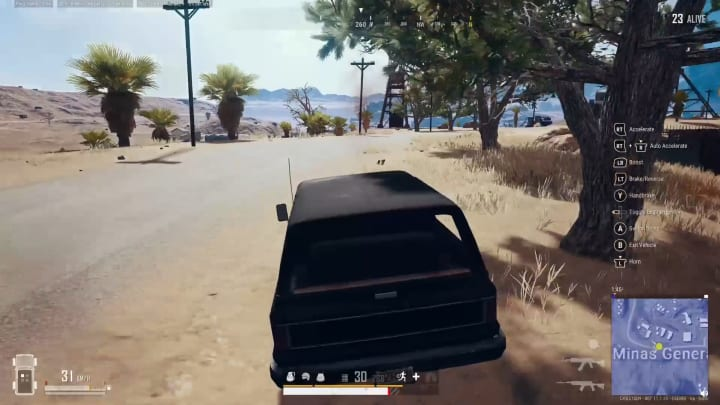 Mystery death as player is killed by own vehicle.