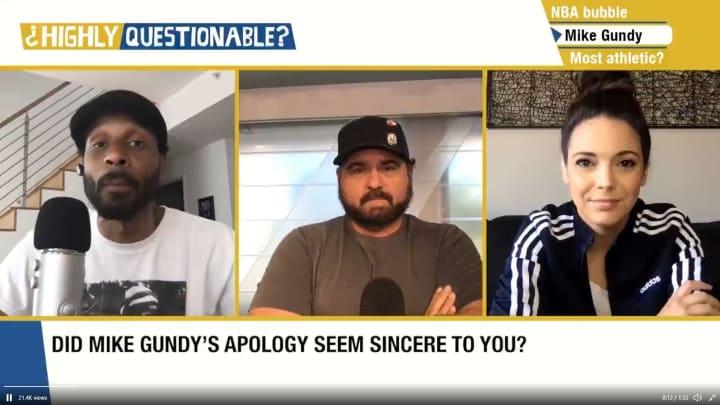 "Bomani Jones, Dan Le Batard and Katie Nolan on ESPN's ""Highly Questionable"""