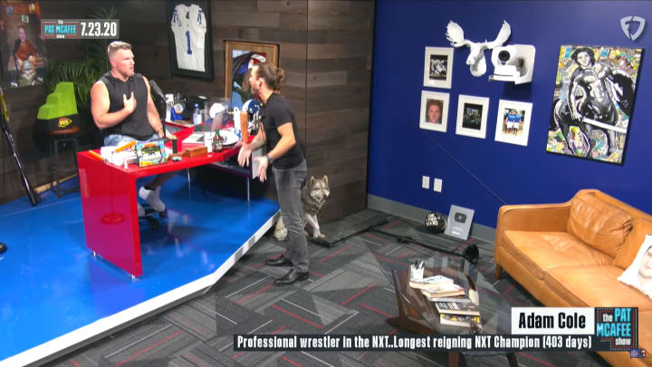 """Adam Cole confronts Pat McAfee on """"The Pat McAfee Show"""""""