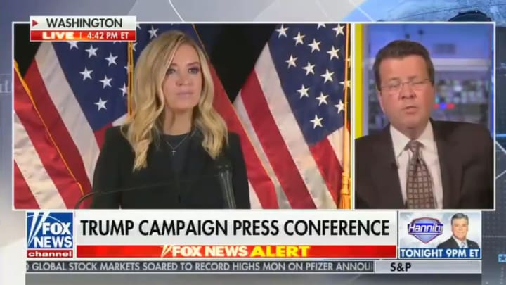 Kayleigh McEnany and Neil Cavuto on Fox News
