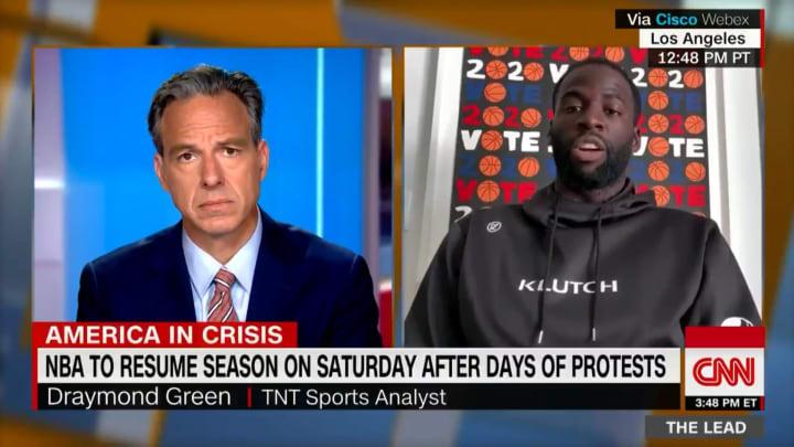 Draymond Green during an appearance on CNN