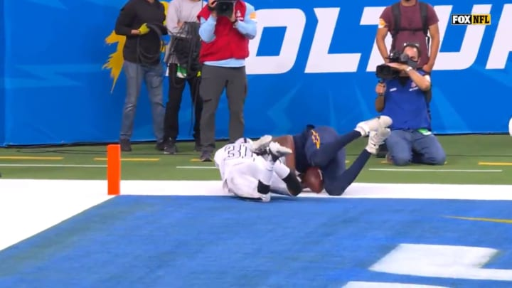 Los Angeles Chargers tight end Donald Parham Jr. drops game-winning touchdown pass