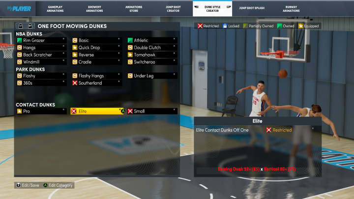 Before pouring in that valuable VC into your Next Gen NBA 2K22 MyPlayer build, here are the Contact Dunk requirements to take note of.