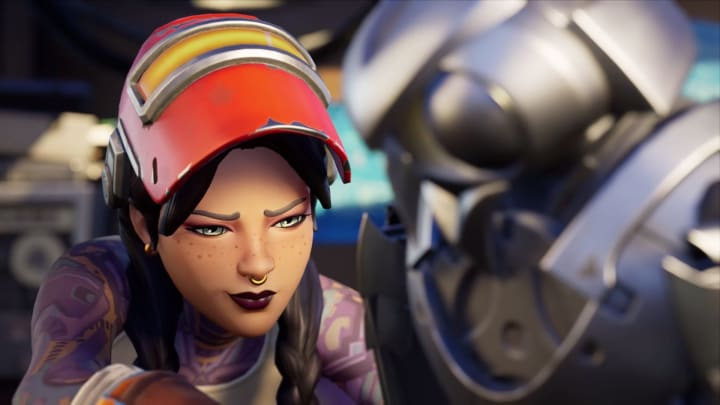 Sidegrade a weapon in Fortnite to complete the Apples to Oranges Punch Card.