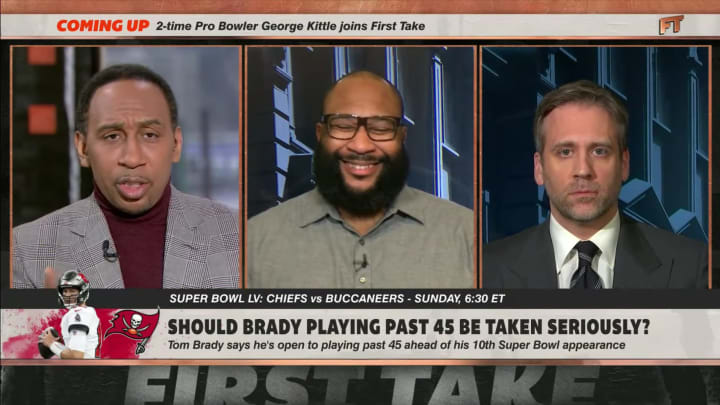 """Stephen A. Smith, Marcus Spears and Max Kellerman on """"First Take"""""""