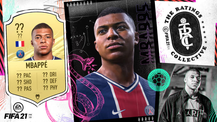 Mbappe made the top 10 best-rated players in FIFA 21.