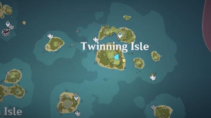 Genshin Impact archipelago Twinning Isle map