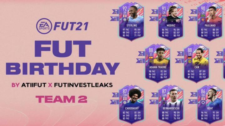FUT Birthday Team 2 has been leaked.